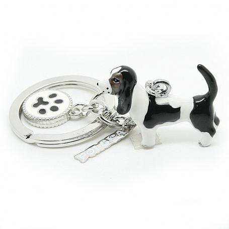 Porte-clés ANIMALS chien basset hound - charmes a'la