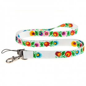 Lanyard for keys - white Łowicz