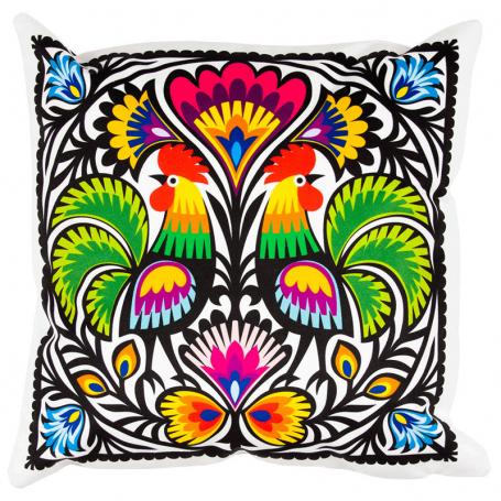 Cojín decorativo - gallos recortables de Lowicz