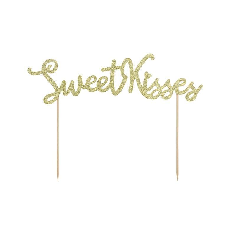 Topper Na Tort Sweet Love Sweet Kisses