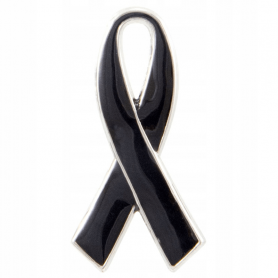 Pin, funeral ribbon, kir