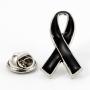 Przypinka, pin wstęga żałobna, kir