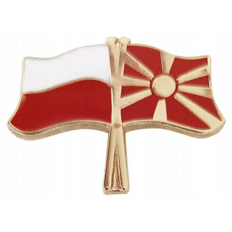 Broche, drapeau de la Pologne-Macédoine