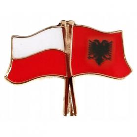 Przypinka, pin flaga Polska-Albania