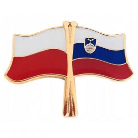 Broche, épingle de drapeau Pologne-Slovénie