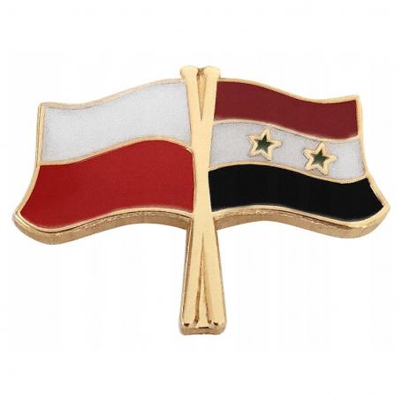 Broche, épingle de drapeau Pologne-Syrie