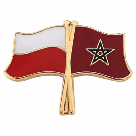 Przypinka, pin flaga Polska-Maroko