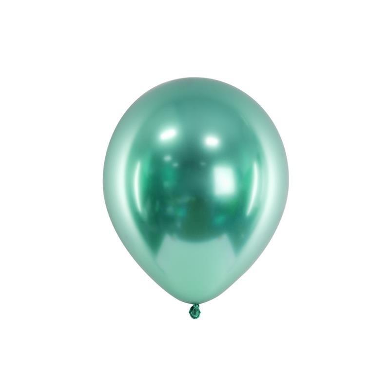 Balony Chrom 27cm Butelkowa Zieleń 1 Op 50 Szt