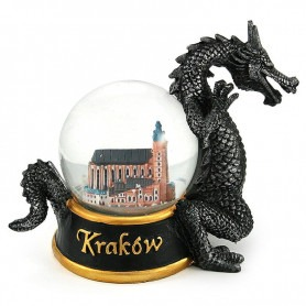 Boule à neige 60 mm - Dragon de Cracovie