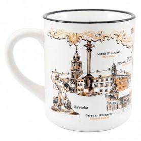 Mug like tin Warsaw Warsaw sepia