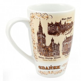 Kubek duży latte Gdańsk sepia