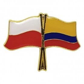 Przypinka, pin flaga Polska-Kolumbia
