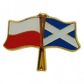 Przypinka, pin flaga Polska-Szkocja