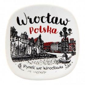 Ceramic fridge magnet Wrocław Oldbook market