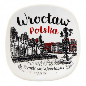 Ceramiczny magnes na lodówkę Wrocław Rynek oldbook