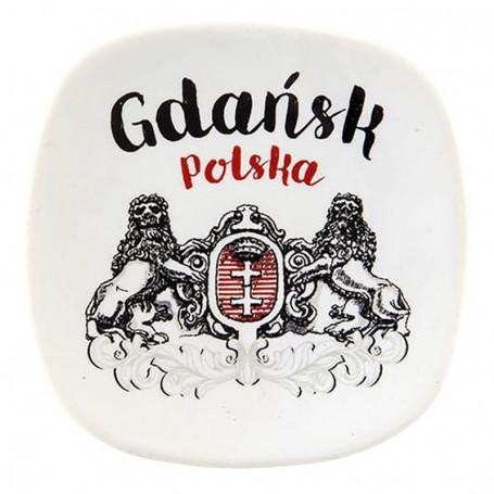 Ceramiczny magnes na lodówkę Gdańsk herb oldbook