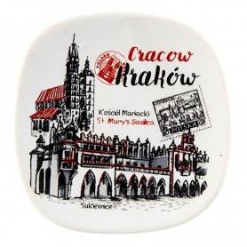 Ceramiczny magnes na lodówkę Kraków Sukiennice