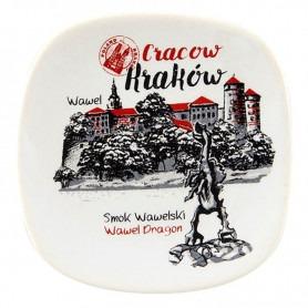Aimant frigo en céramique Cracovie Wawel oldbook