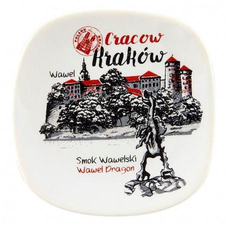 Ceramiczny magnes na lodówkę Kraków Wawel oldbook