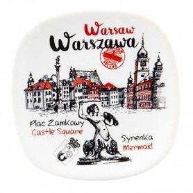 Ceramic fridge magnet Warsaw Plac Zamkowy
