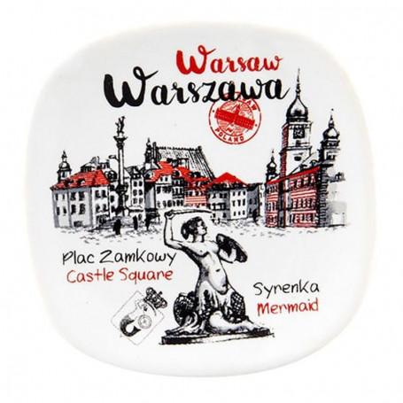 Aimant frigo en céramique Warsaw Plac Zamkowy