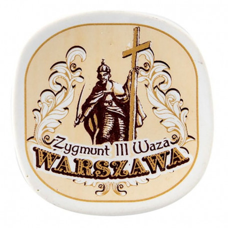 Ceramiczny magnes na lodówkę Warszawa Zygmunt