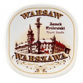 Aimant frigo en céramique Château de Varsovie sépia