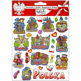 Convex stickers Poland