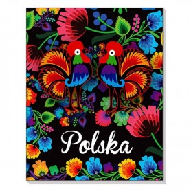 3D-Notizbuch auf einem Magnet Polen Folk łowicki