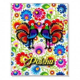 Cuaderno 3D en un imán Polonia folklore
