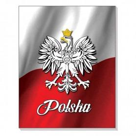 3D-Notizbuch mit Magnet. Polnische Flagge