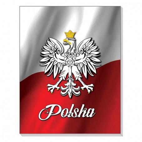 Cahier 3D avec aimant Drapeau polonais