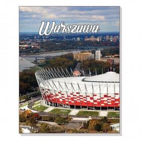 Magnet 3D anteckningsbok Warszawa National Stadium