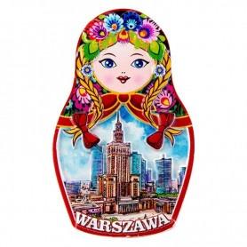 Magnet chladničky Matryoshka - varšavský palác kultúry