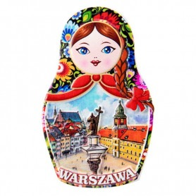Matryoshka fridge magnet - Warsaw. Sigmund Column