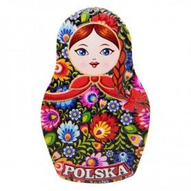 Matrioszka hűtőmágnes - lengyel népi
