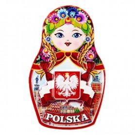 Matrioszka jääkaapimagneetti - puolalainen folk