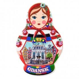 Matryoshka šaldytuvo magnetas - Gdanskas