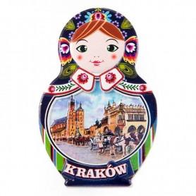 Matryoshka hűtőmágnes - Krakkó
