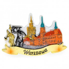 Hűtőmágnes Varsó panoráma