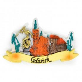 Panoráma s magnetom chladničky v Gdansku