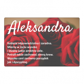 Kühlschrankmagnet - Alexander