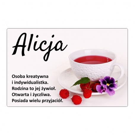 Magnes na lodówkę - Alicja