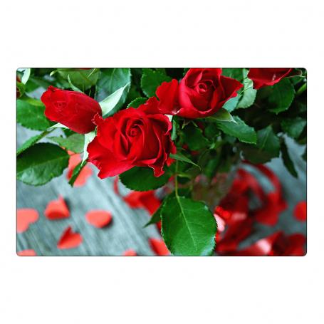 Kühlschrankmagnet - ein Strauß Rosen