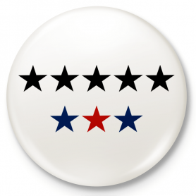 Badge a bottone, perno 8 stelle, 8G