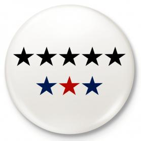 Badge bouton, épingle 8 étoiles, 8G