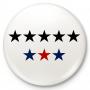 Badge a bottone, perno 8 stelle, 8G