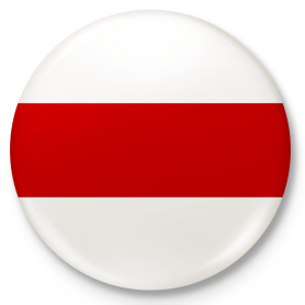 Button badge, Free Belarus flag pin