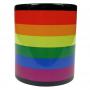 Kubek czarny flaga LGBT tęcza