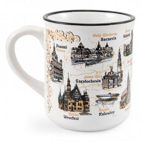 A tin mug Poland sepia